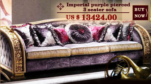 Imperial purple pierced 3 seater sofa