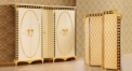 luxury Italy style wood carving Five-door Wardrobe