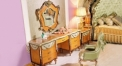 luxury European style woodcarving dresser set