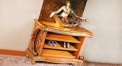 luxury European style woodcarving Shoe Rack
