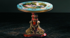 luxury European style wood carving round Coffee Table