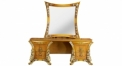classical Baroque style wood carving rose dresssing table
