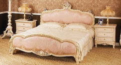 classical Baroque style wood carving bed