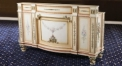 antique Baroque style wood carving bar counter