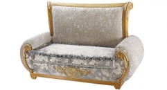 antique Baroque style wood carving loveseat