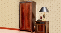 luxury new classical style wood carving 2-door wardrobe