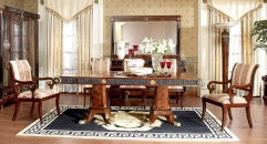 luxury new classical style wood carving long dining table