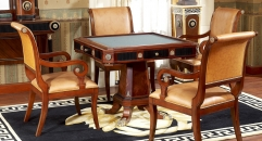luxury new classical style wood carving Mahjong table
