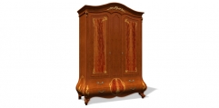 antique French style wood carving 2 door wardrobe