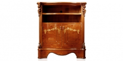 antique French style wood carving TV stand/ cabinet