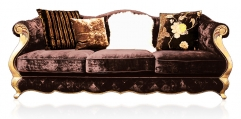 antique French style wood carving Sofa(3 seats)
