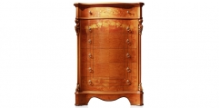 antique French style wood carving Chest of drawers, 6 drawers