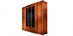 antique French style wood carving 5 door wardrobe