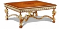 antique French style wood carving Coffee table