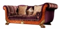 antique French style wood carving Sofa in Purple(3 seats)