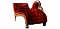 antique French style wood carving Belle sofa, chaise lounge