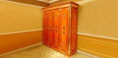luxury classical Gold 24K style 4 door wardrobe