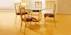 luxury classical Gold 24K style DINING SET(1table+4chair)