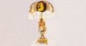 luxury decoration antique Gold 24K style vase shape table lamp