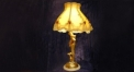 luxury decoration antique Gold 24K style mermaid table lamp