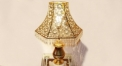 luxury decoration antique Gold 24K style pierced table lamp