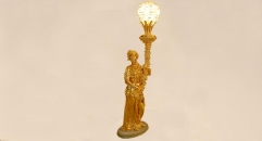 luxury decoration antique Gold 24K style figure decorative floor lamp