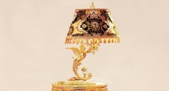 luxury antique Gold 24K style animal decorative table lamp