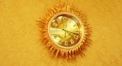 luxury decoration antique Gold 24K style sun shape wall clock