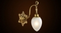 Classical copper 24K gold plated wall lamp