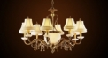 Luxury antique lampshade chandelier(big size),residential lighting,pendent lamp