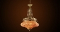 Luxury antique multicolor crystal chandelier, pendent lamp,copper gold plated