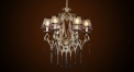 Antique black and white crystal chandelier, pendent lamp,made of copper
