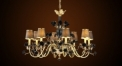 Luxury antique flower decorative chandelier,residential lighting,pendent lamp,copper gold plated