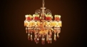 Luxury crystal lampshade chandelier(middle size), pendent lamp, copper gold plated