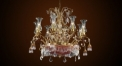 Luxury crystal chandelier, pendent lamp,copper gold plated