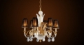 Luxury antique lamp shape crystal chandelier, pendent lamp,copper gold plated
