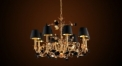 Antique lampshade style floral chandelier, pendent lamp,copper gold plated