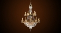 Luxury crystal candle lamp chandelier,residential lighting,pendent lamp,copper gold plated