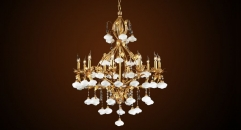 Antique crystal flora candle lamp style chandelier, pendent lamp,copper gold plated