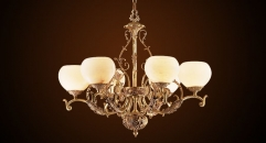Antique bronze chandelier,residential lighting,pendent lamp