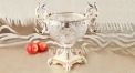 crystal and porcelain trophy shape compote