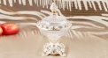 crystal and porcelain candy jar pineapple top
