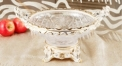 crystal and porcelain double handle candy compote