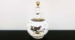luxury decoration antique horse table lamp