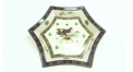 royal ivory porcelain horses sexangle tray