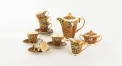 15pcs royal ivory porcelain Versace style coffee set