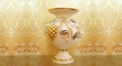Imperial golden grape and rose vase