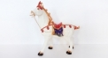 porcelain horse figure with crystals (colored)