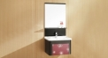High-end oak sanitary ware, Modern style solid wood cabinet and mirror