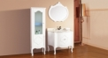 white oak, color jade marble cabinet and mirror